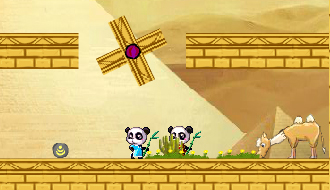 Pandas in the desert
